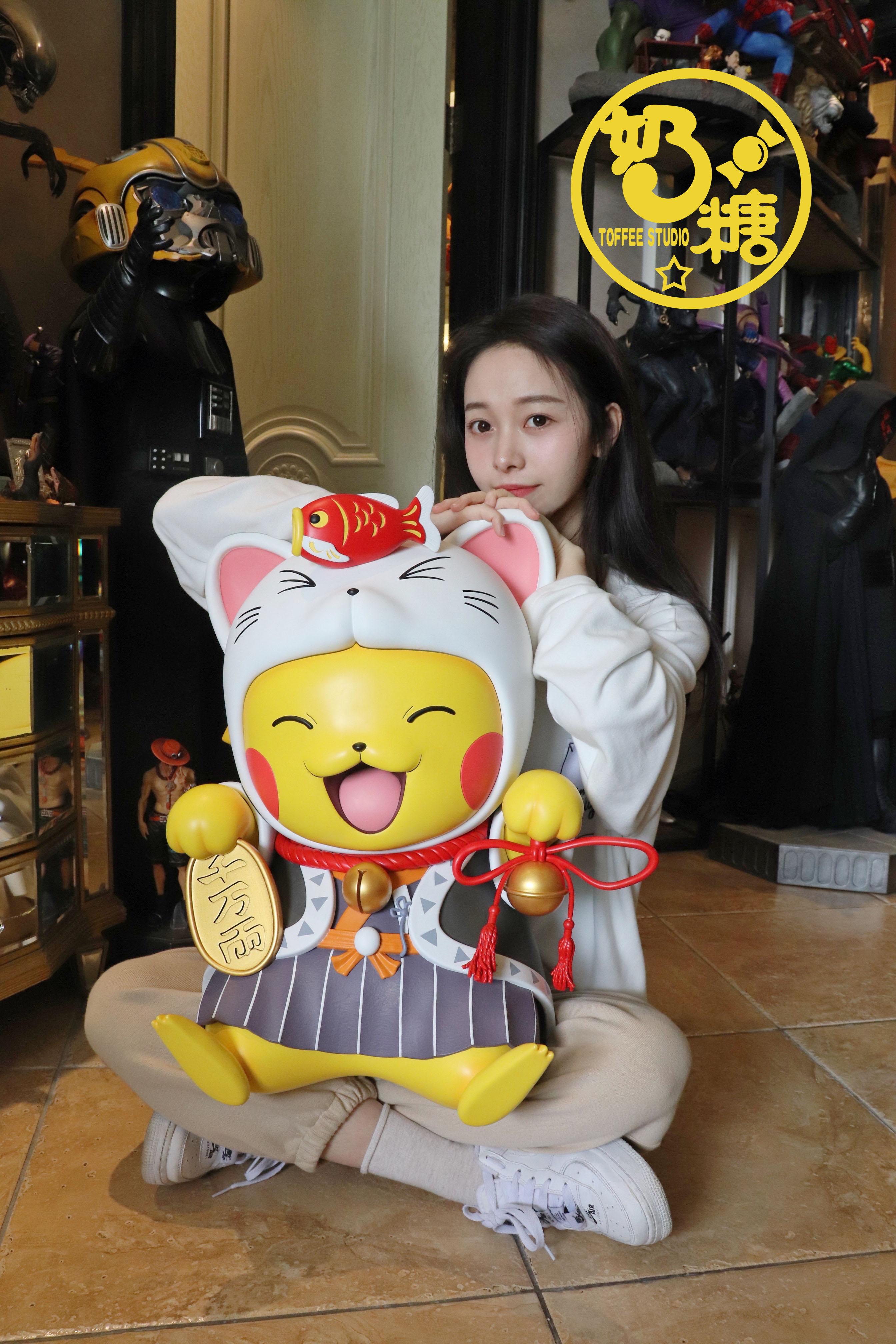 ตัวใหญ่ Pikkchu x Lucky Cat แมวนำโชค  TOFFEE (มัดจำ)