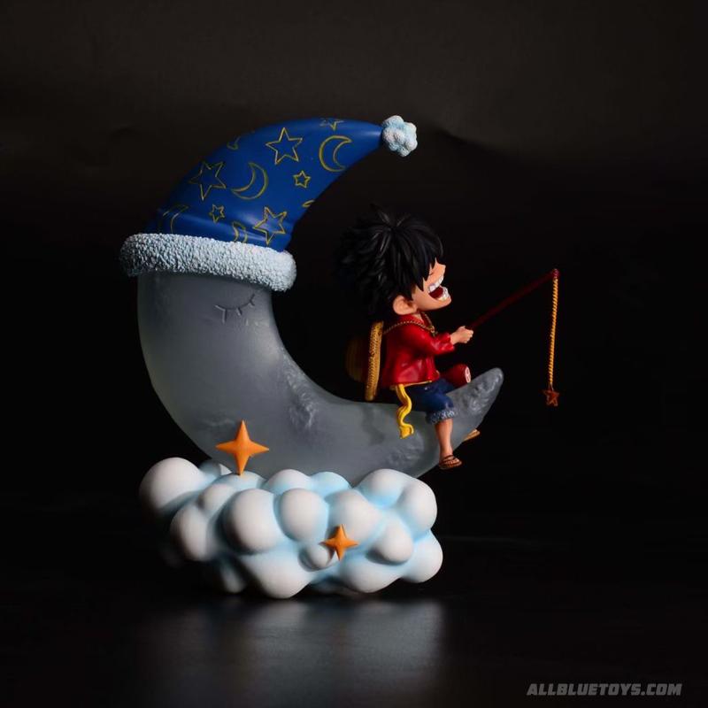 สีขาว ลูฟี่ตกปลา บนดวงจันทร์ Monkey D. Luffy (มัดจำ)