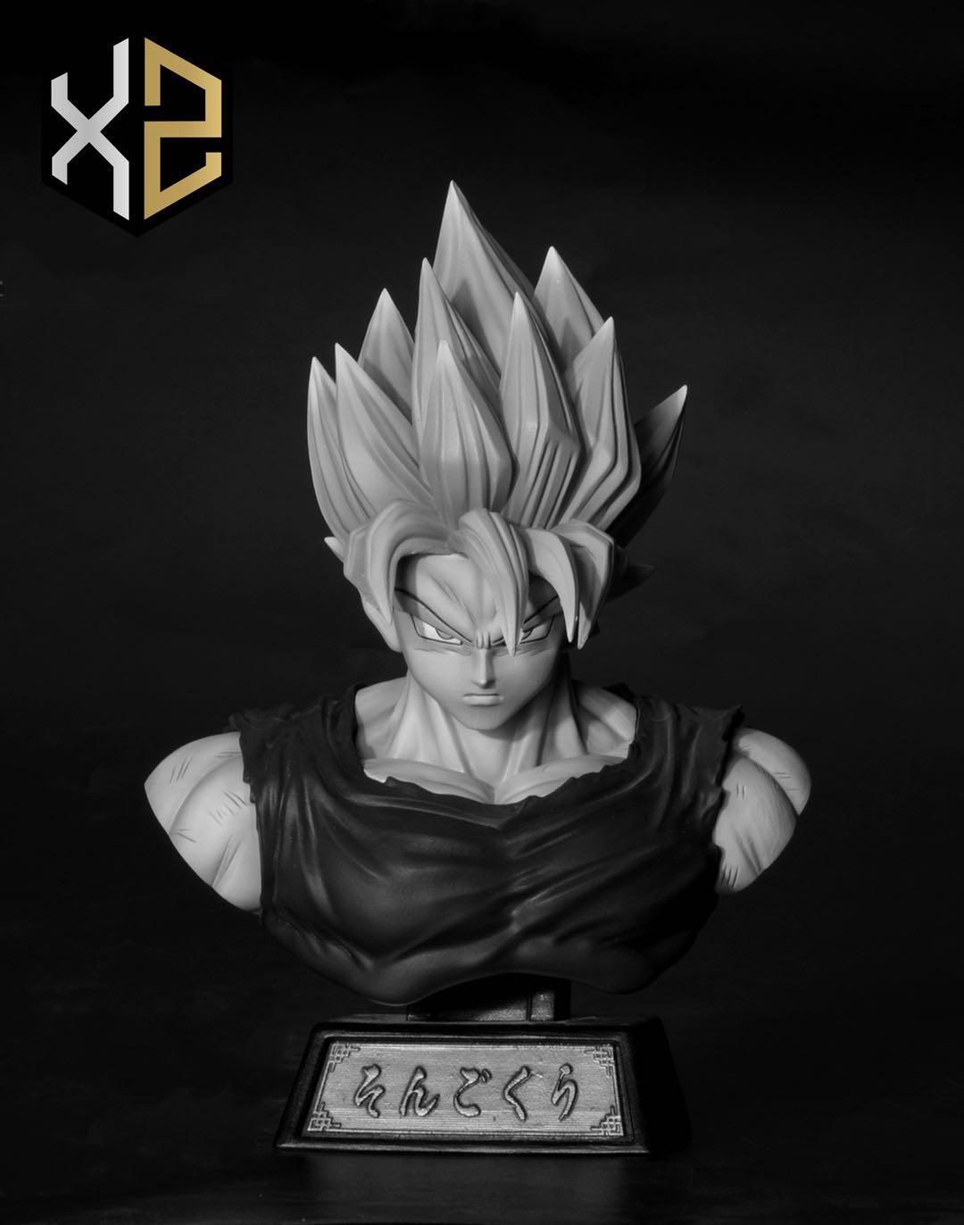 สีขาวดำ Goku Blue ไซย่า บูล XZ Studio (มัดจำ) [[SOLD OUT]]